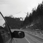 Mountain View From The Back Passenger Seat