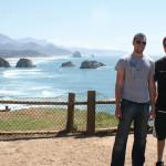 Phil and Brandon on the Oregon coast