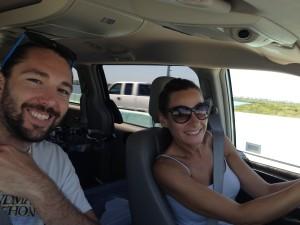 Gerri & Phil on the road