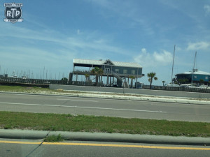 On the gulf coast they build their houses on big stilts.  Pretty awesome!