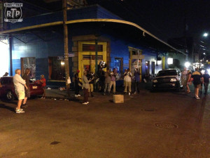 Nothing like a full brass band and drum line at midnight!  Only in NOLA!