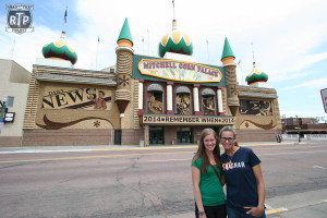 Gerri and Kathryn in front of the Corn Palace!