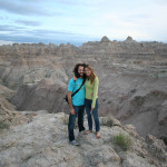 Gerri and Phil in the Badlands.