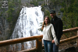 Us in front of Narada Falls.