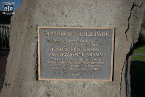 A plaque at Shoshone